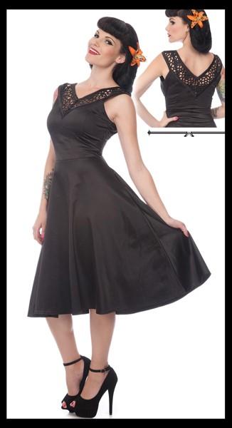 50s Swing Dress, Lace Cut Out, XL
