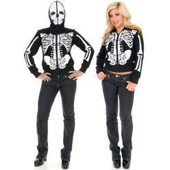 Skeleton Hoodie, Women's, XS/S/M/L/XL