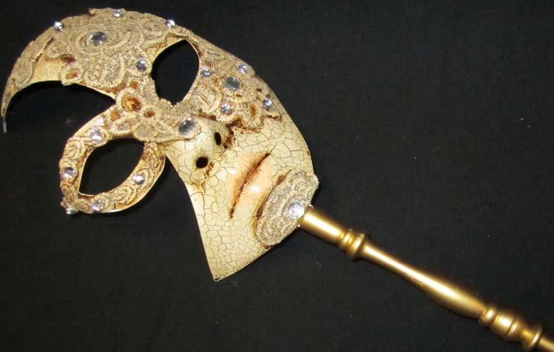 Volto Manico Half Face Macrame Mask