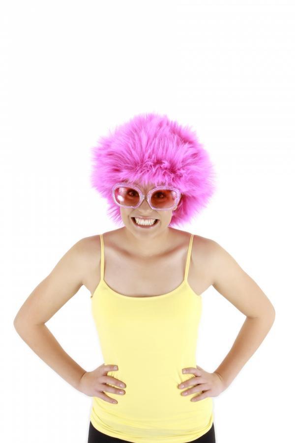 Fuzzy Wig Fuchsia