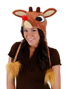 Rudolph Light-Up Hoodie Hat, O/S