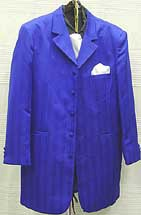 Zoot Suit 42R Blue Narrow Lapel
