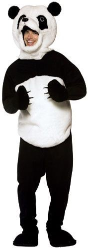 Panda Bodysuit, OS Adult