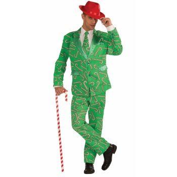 3pc Candy Cane Suit, XL 48