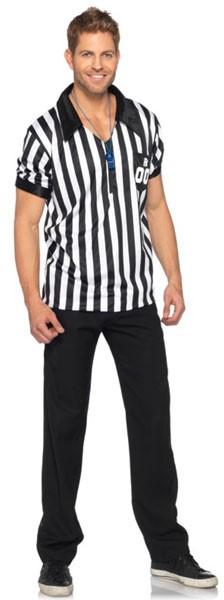 Referee zip front shirt, XL