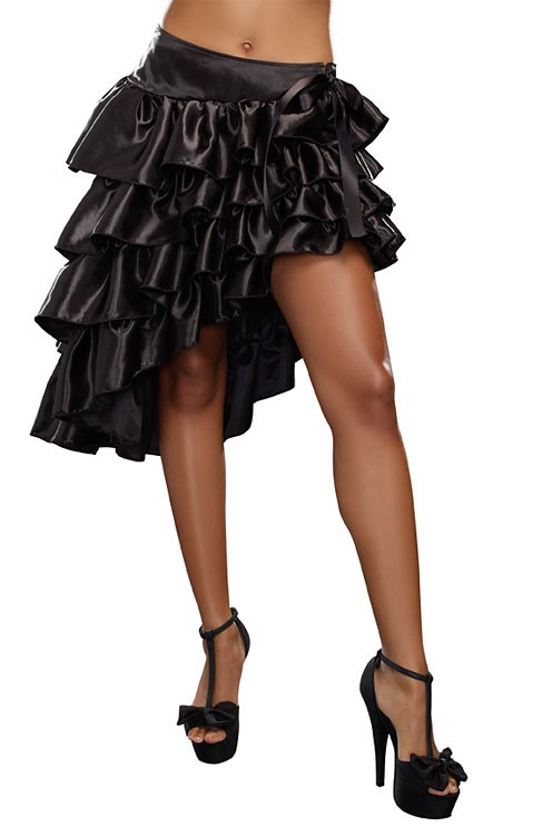 RUFFLED SKIRT, L