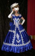 1860s Antebellum, Southern Belle, Blue Belle, S