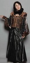 Elizabethan Court Gown Black Ruff
