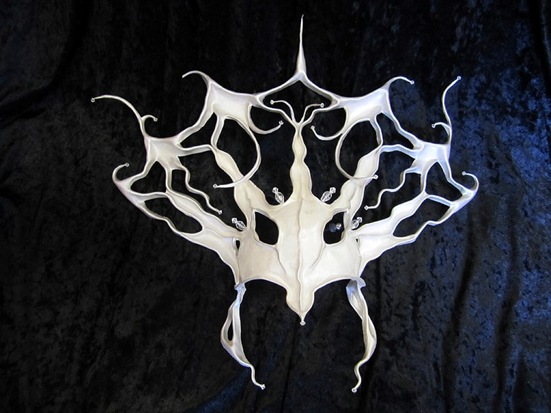 Dark Majesty Headpiece, White Mask