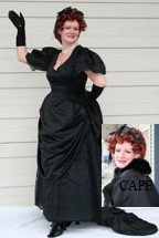 1837-1901 Victorian, Jet Black Evening Ensemble