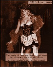 1880s Wild West, Can Can saloon girls, Lacy Lorena