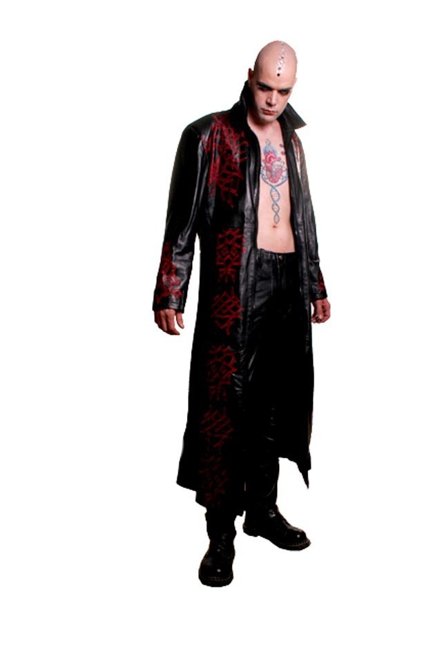 Coat, Leather Men's Devious, XS
