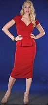 40s Business Suit Dress Obsession Red