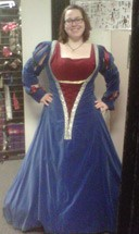 Renaissance Blue German Gown
