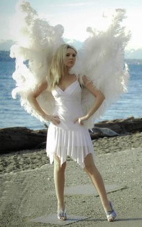 Huge Feather Angel Wings