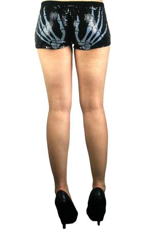 Skeleton Shorts, Sequins, S
