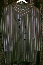 Zoot Suit 46L Black Pin Double Breast