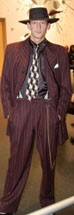 Zoot Suit 46 Chocolate White Pin