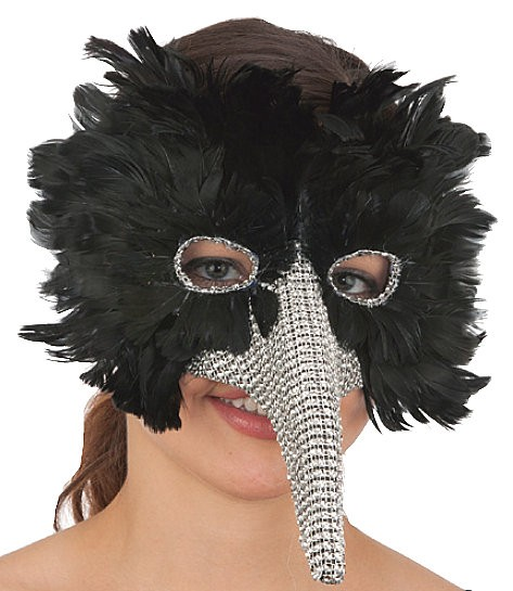Long Nose Mask, Black Feather &