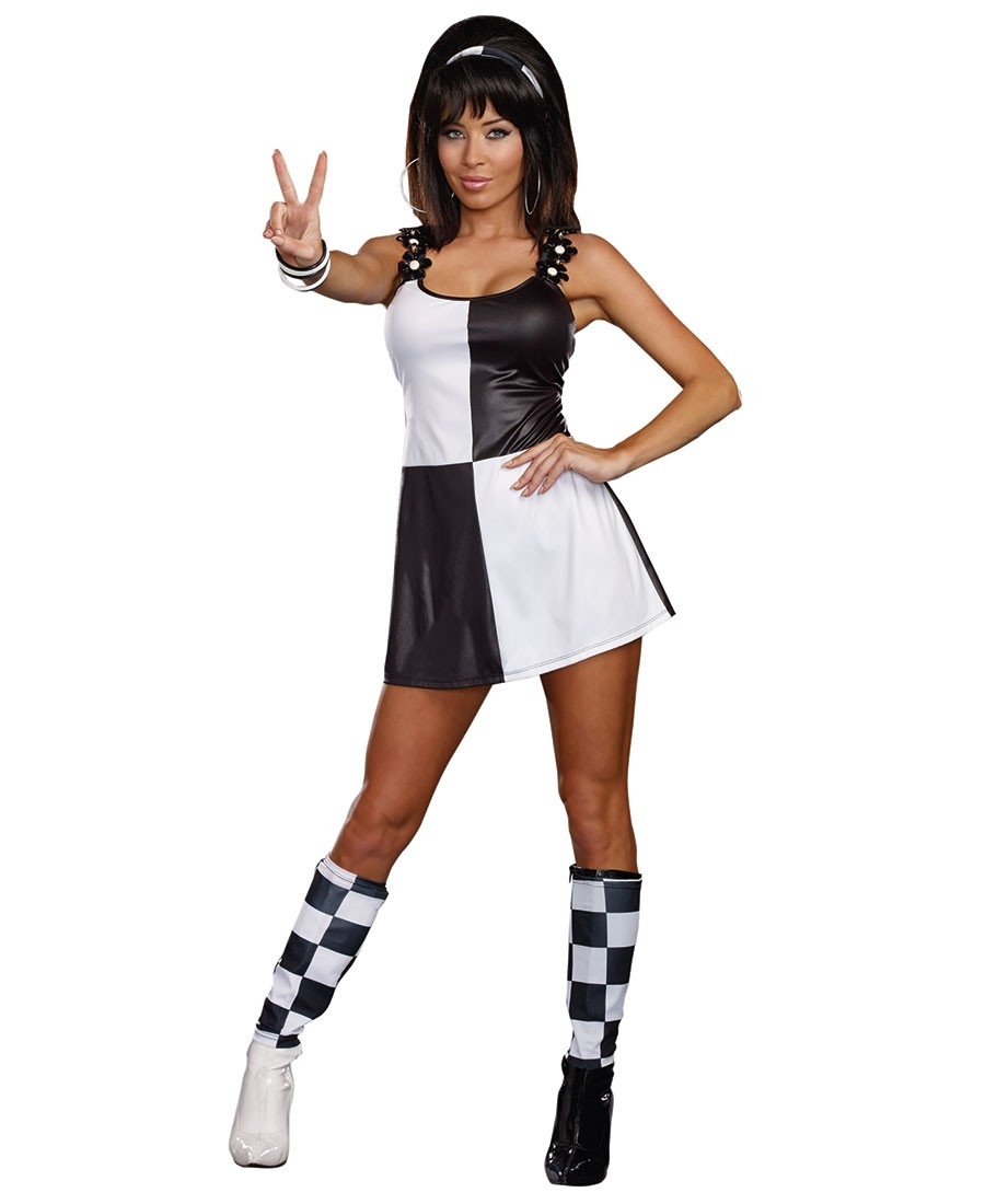 Gogo Dress Black And White