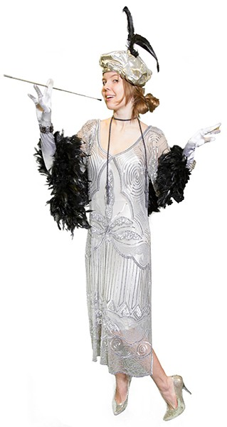 20s Beaded Gown, Historical Reproduction