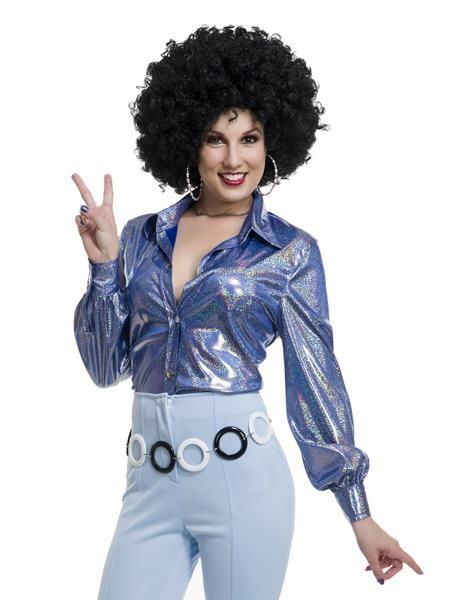 70s Shirt, Disco, Womens