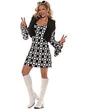 60s Go Go Dress Set, Hip Chick L