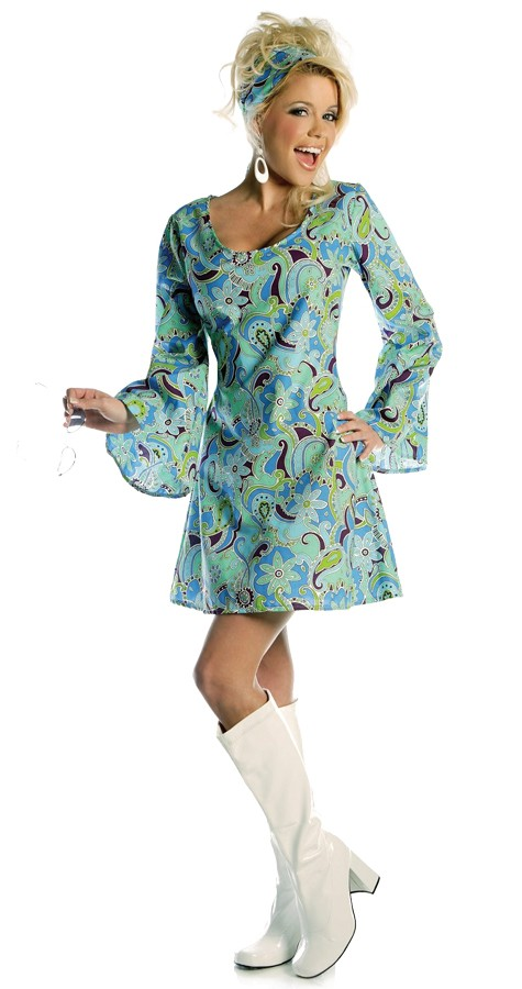 60s Go Go Dress and Scarf Set L