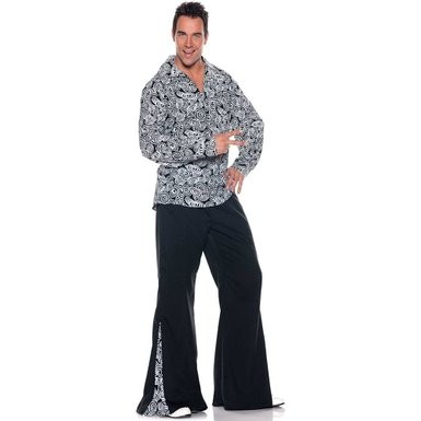 60s Pant Shirt Set, Funky XXL