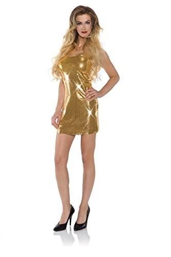 Go Go Dress, Sequin Gold S