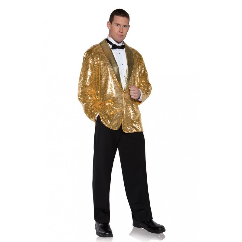 Jacket, Sequin Gold O/S