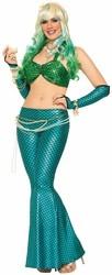 Mermaid Tail Skirt, Aqua Blue O/S