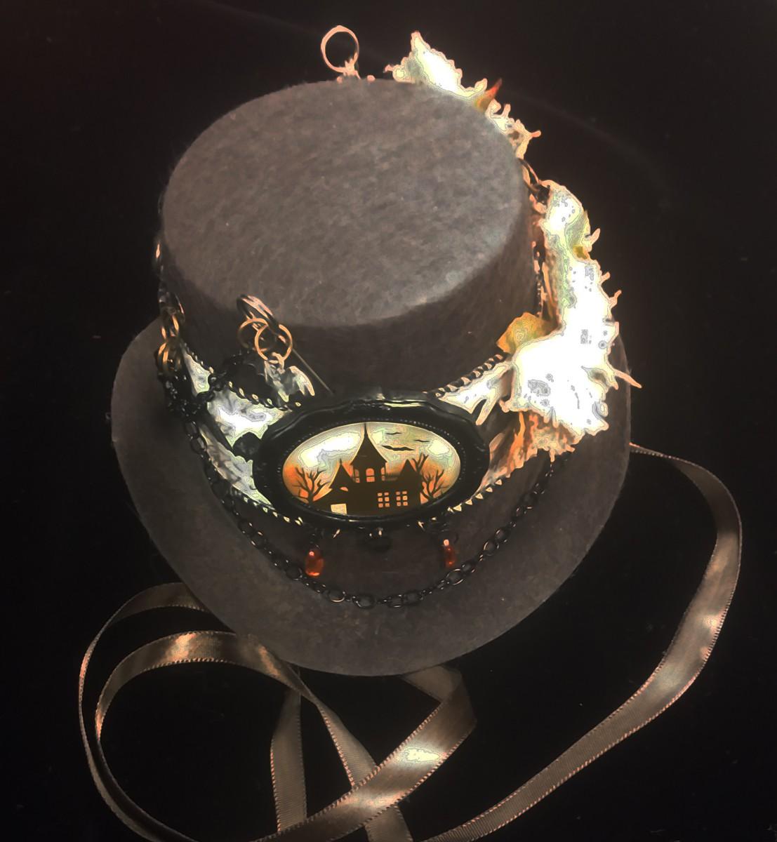 Mini Top Hat, Brown