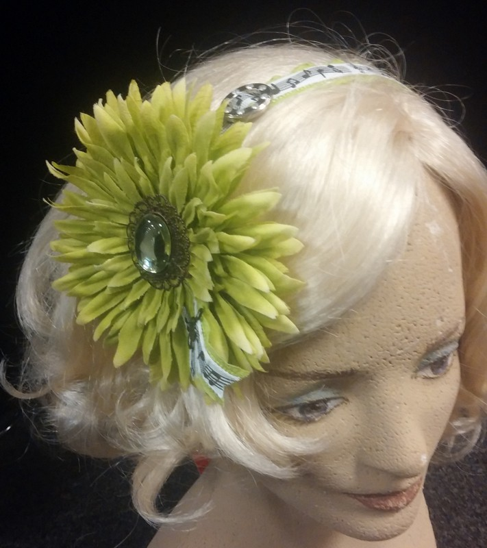 Headband flower, green