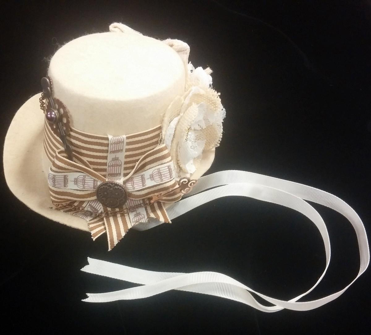 Mini Top Hat, Tan Steampunk