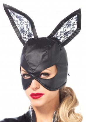 Bunny, Faux Leather Mask