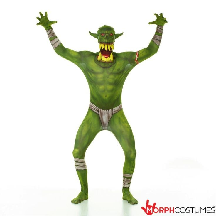 Morphsuit, Orc Jaw Dropper Grn