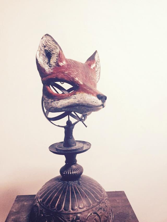 Fox Mask, Handpainted