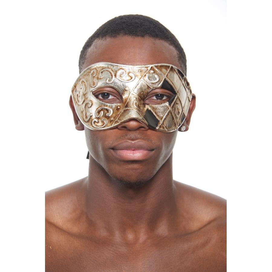 Silver Black Venetian Mask