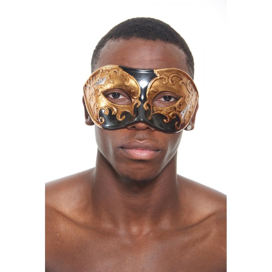 Black Gold Venetian Mask