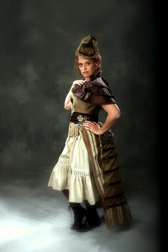 Steampunk Time Traveler Costume with Corset