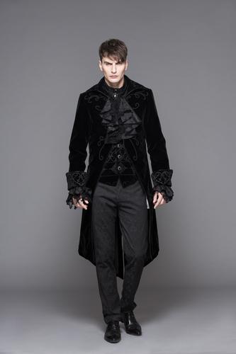 Tuxedo, black velvet tailcoat XL