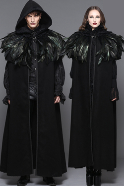 Cape, Gothic Removable Dark Gre L