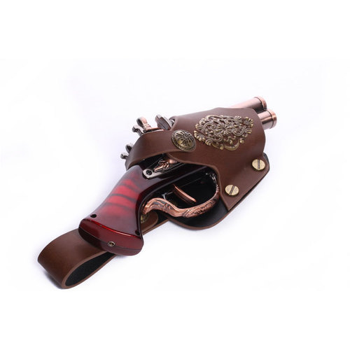 weapon Steampunk Gun w/ holster 7""