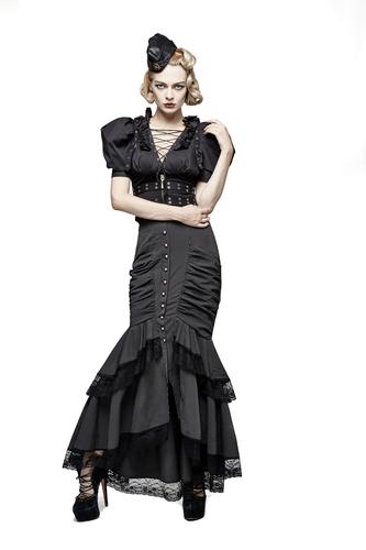 skirt, Steampunk long mermaid h L