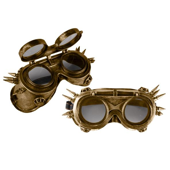 Goggles, Steampunk Flip Visor Adjustable