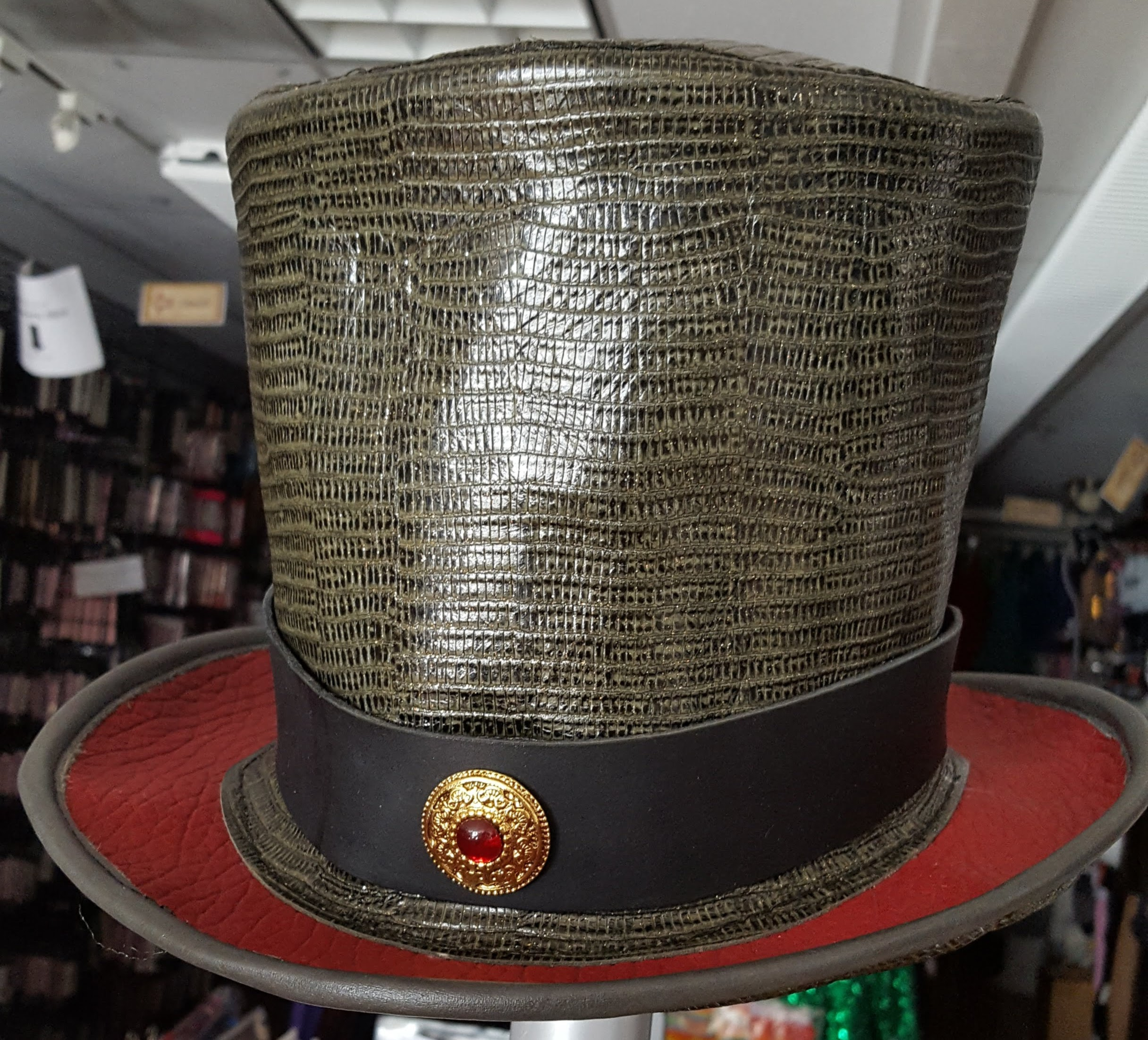 Bell Topper, Leather Hat