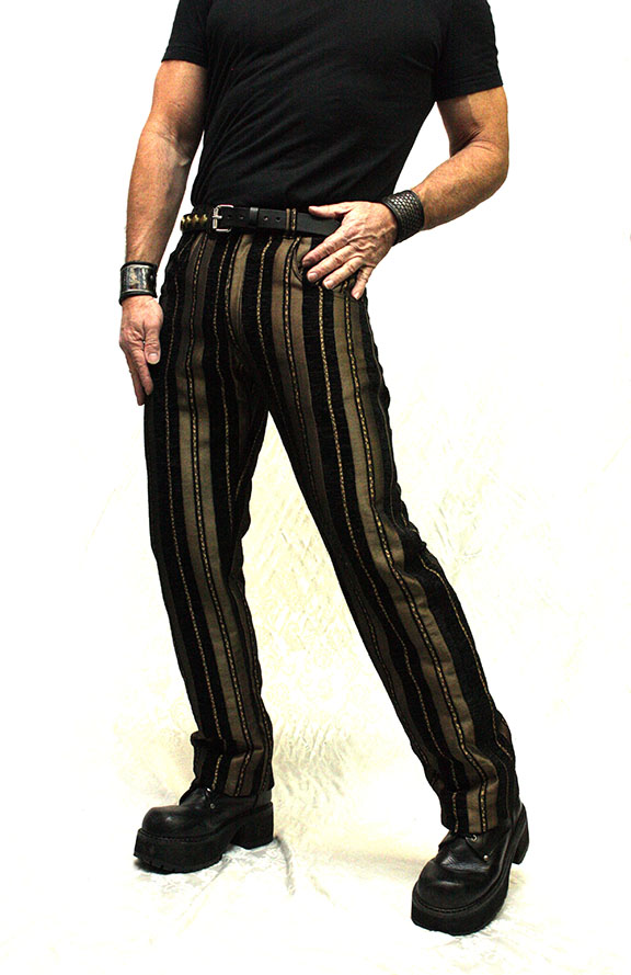 """Pants, Carny Striped 36"""" Gold"""