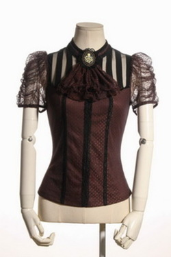 Steampunk Shirt with Octopus ca L