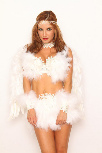 Dark Angel Feather Costume 7pc S/M